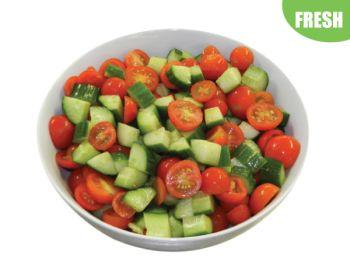 Large Bowl of Tomato & Cucumber Salad