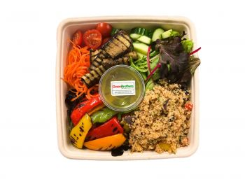 Vegan Bento Box - Quinoa with Roasted Peppers Salad
