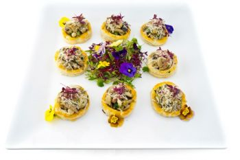 Individual Wild Mushroom Gallette - Cold Fork Buffet