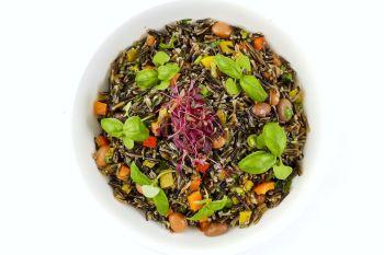 Large Bowl of Wild Rice & Bean Salad